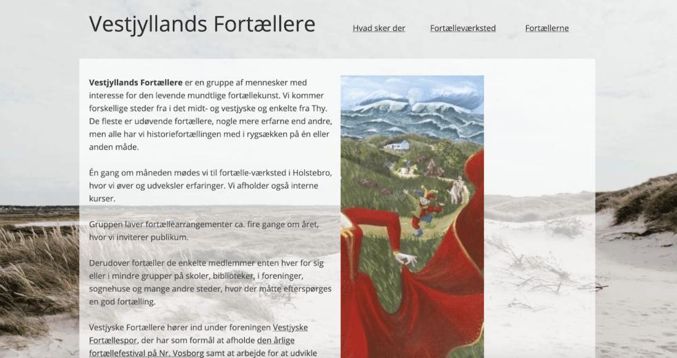 Vestjyllands Fortællere Ny hjemmeside
